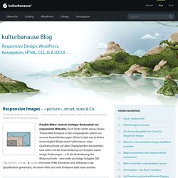 Responsive Images – <picture>, srcset, sizes & Co.