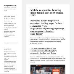Mobile responsive landing page design best conversion 2015