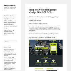 Responsive landing page design 20% OFF Offer