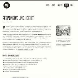 Responsive Line Height