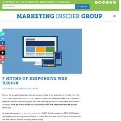 7 Myths Of Responsive Web Design