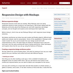 Responsive Design with Mockups