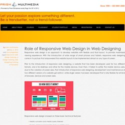 Role of Responsive Web Design in Web Designing - Prism Multimedia