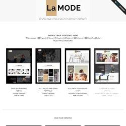 LaMode - Responsive HTML5 Multipurpose Template
