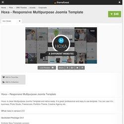 Hoxa - Responsive Multipurpose Joomla Template - CMS Themes