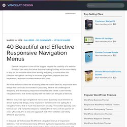 50+ Gorgeous Navigation Menus | Vandelay Website Design