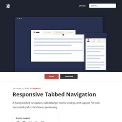 CSS Responsive Tabbed Navigation