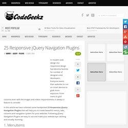 25 Responsive jQuery Navigation Plugins
