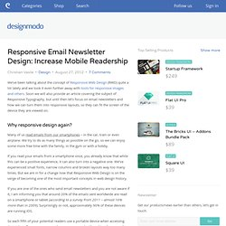 Responsive Email Newsletter Design: Increase Mobile Readership