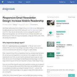 Responsive Email Newsletter Design: Increase Mobile Readership