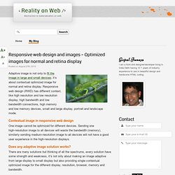 Responsive web design and images – Optimized images for normal and retina display