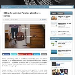 10 Best Responsive Parallax WordPress Themes