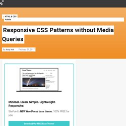 Responsive CSS Patterns without Media Queries