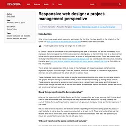 Responsive web design: a project-management perspective