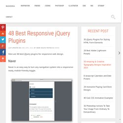 45 jQuery Plugins For Responsive Web Design - Updated July 2013