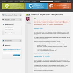 Un email responsive, c'est possible