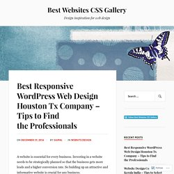 Best Responsive WordPress Web Design Houston Tx Company – Tips to Find the Professionals – Best Websites CSS Gallery