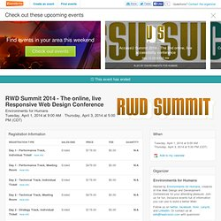 RWD Summit 2014 - The online, live Responsive Web... Registration