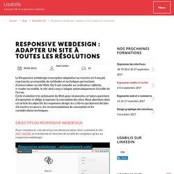 Responsive webdesign : adapter un site à toutes les résolutions