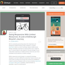 Going Responsive With Limited Resources: A Look at Edinburgh Bicycle's Journey