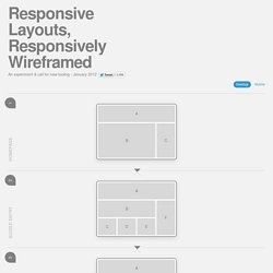 Responsive Layouts, Responsively Wireframed