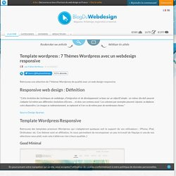 Template wordpress : 7 Thèmes Wordpress avec un webdesign responsive - ressources-wordpress