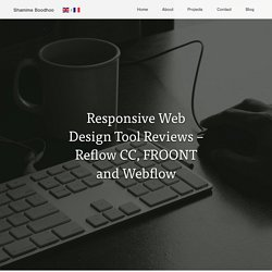 Responsive Web Design Tool Reviews – Reflow CC, FROONT and Webflow