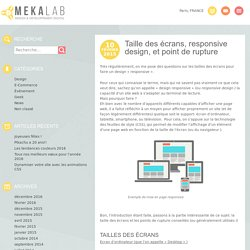 Taille des écrans, responsive design, et point de rupture