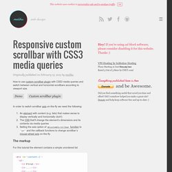 Responsive custom scrollbar with CSS3 media queries