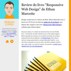 "Review do livro ""Responsive Web Design"" do Ethan Marcotte - sergiolopes.org"