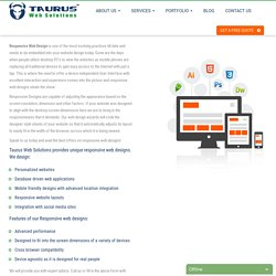 Responsive Web Design Services Company India- Taurus Web Solutions