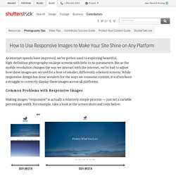How to Use Responsive Images to Make Your Site Shine on Any Platform - The Shutterstock Blog