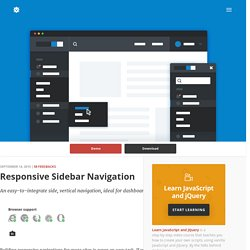 Responsive Sidebar Navigation in CSS and jQuery