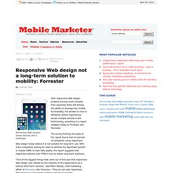 Responsive Web design not a long-term solution to mobility: Forrester