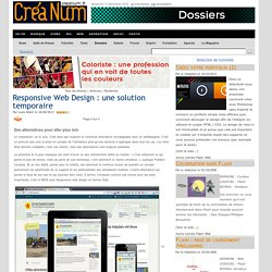Responsive Web Design : une solution temporaire