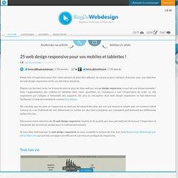 25 web design responsive pour vos mobiles et tablettes