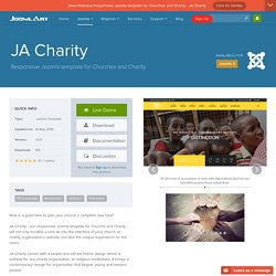 JA Charity - Responsive Joomla template for Churches and Charity