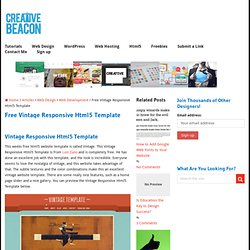 Free Vintage Responsive Html5 Template