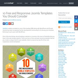 10 Free and Responsive Joomla Templates You Should Consider