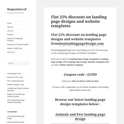 Responsive landing page design templates 20% flat discount offer