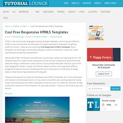 Cool Free Responsive HTML5 Templates