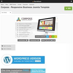 Corposs - Responsive Business Joomla Template - CMS Themes