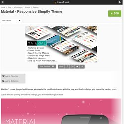 Material - Responsive Shopify Theme - eCommerce