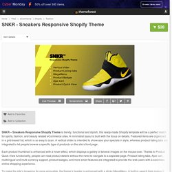 SNKR - Sneakers Responsive Shopify Theme by jetimpex