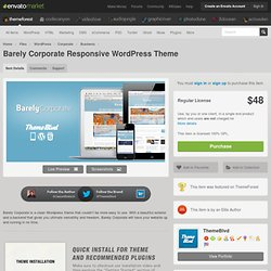 WordPress - Barely Corporate Responsive WordPress Theme