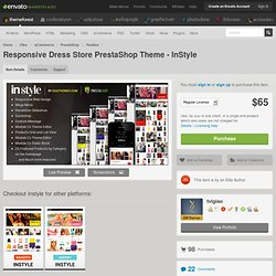 eCommerce - Responsive Dress Store PrestaShop Theme - InStyle