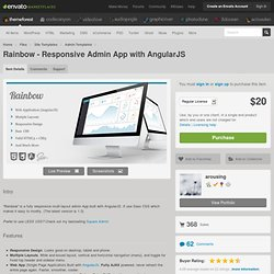 Rainbow - Responsive Admin App with AngularJS