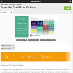 Responsive Timetable for Wordpress - WordPress