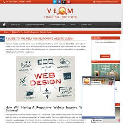 Why we need a responsive website design