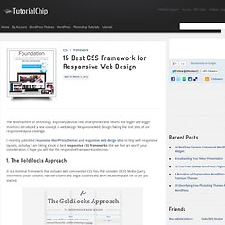 15 Best CSS Framework for Responsive Web Design